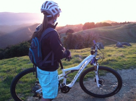 Kimmy with the Rumor Mountain Bike
