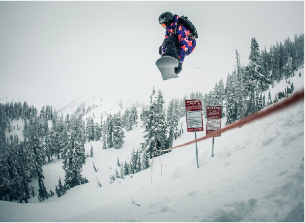 Storm boarding at Mt. Baker with Burton Snowboards and photographer Aaron Blatt. Click the photo to read how the Banked Slalom turned into a fun week of Pow riding.
