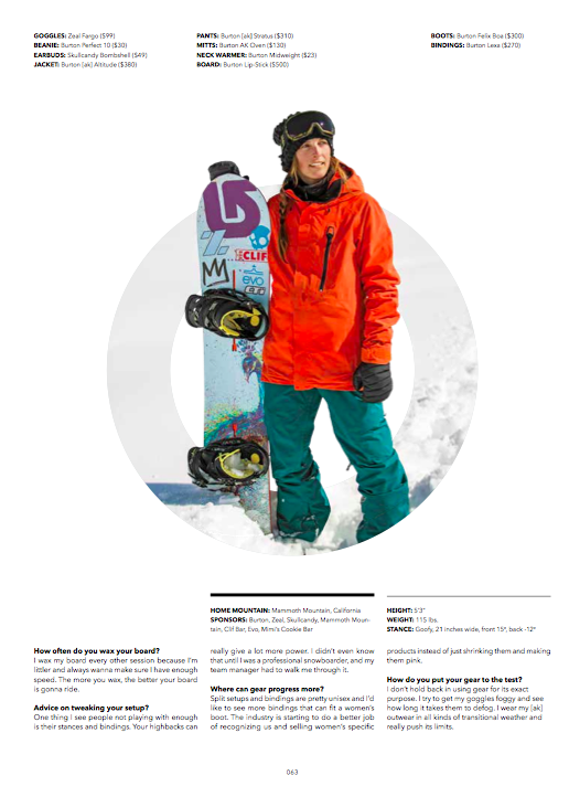 Check out the newest Burton winter 2015 gear in the October issue of Transworld Sonwboarding or visit burton.com